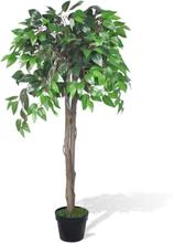 vidaXL Konstgjord Fikusträd med Kruka 110 cm