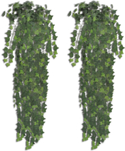 vidaXL Konstgjord murgröna 2 st grön 90 cm
