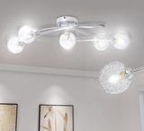 Taklampa med trådskärm för 5 G9 Glödlampor