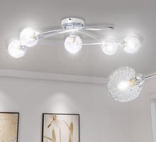 vidaXL Taklampa med trådskärm för 5 G9-glödlampor