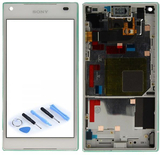 Sony visar LCD komplett enhet med ram för Xperia Z