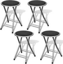 vidaXL foldbare barstole 4 stk. kunstlæder
