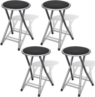 vidaXL barstole 4 stk. sammenfoldelige