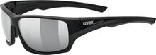 UVEX Sportstyle 222 Pola Sportsbriller, black mat/silver 2020 Briller