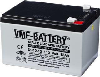 VMF AGM Djupurladdningsbatteri 12 V 12 Ah DC12-12