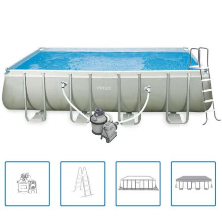 Intex Ultra Frame firkantet svømmebassin, 549x274x132 cm