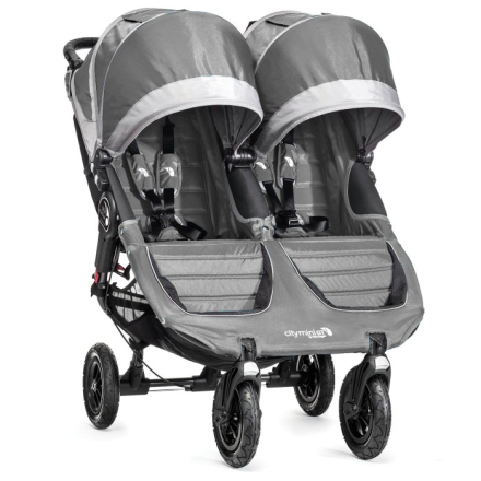 Baby Jogger City Mini Double GT Syskonvagn (Grå Steel Grey)