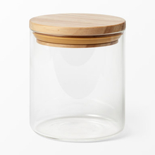 Glasburk med trälock, 0,6 L