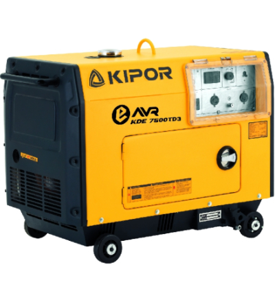 Voimavirtageneraattori KIPOR KDE7500TD3 diesel 400V 3-vaihe