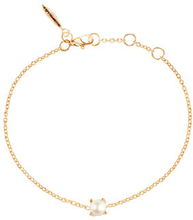 Petite pearl bracelet gold, ONE SIZE