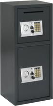 vidaXL Digital safe med dobbel dør mørkegrå 35x31x80 cm