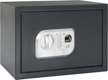 vidaXL Digital safe med fingeravtrykk mørkegrå 35x25x25 cm