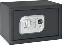 vidaXL Digitalt kassaskåp med fingeravtryck mörkgrå 31x20x20 cm