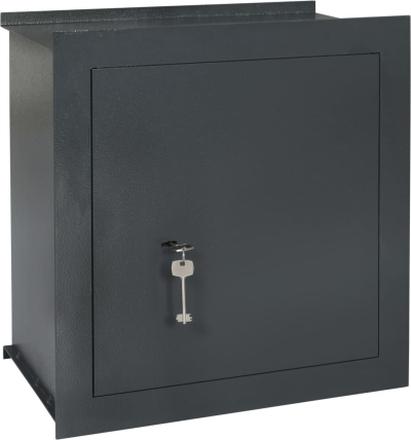 vidaXL Väggkassaskåp mörkgrå 42x24x42,6 cm