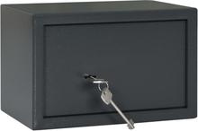 vidaXL Mekaniskt kassaskåp mörkgrå 31x20x20 cm stål