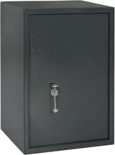 vidaXL Mekanisk safe mørkegrå 35x31x50 cm stål