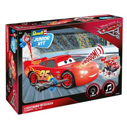Cars 3, Revell Junior Kit, Lightning McQueen med lyd & lys 1:20 - Lekmer