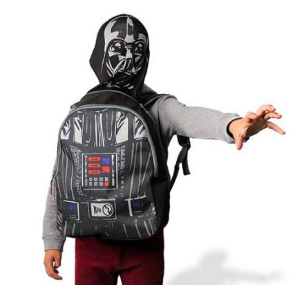 Star Wars rygsæk / skoletaske med maske, 35*30*10 cm - TheFairytaleCompany