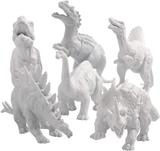 Plast dinosaurier att måla själv - höjd: 15 cm - 2