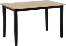 Ruokapöytä 120 x 75 cm puinen mustalla rungolla HOUSTON