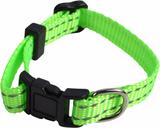Halsb nylon refl grön 34cm
