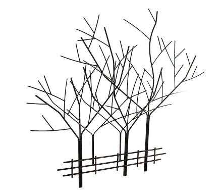 Alderen kobber ferdig smijern vinter treet vegg skulptur