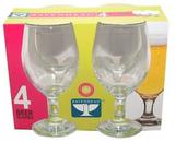 38cl öl glas Set med 4 för alkohol Barware