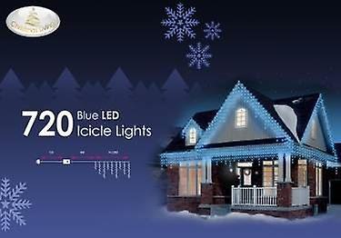 720 blå LED istap lys