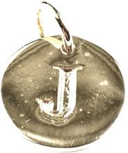 Beloved Letter Silver J, ONESIZE