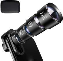 Mobile Lens 4-i-1 Fisheye + Vidvinkel + Tele + Makro