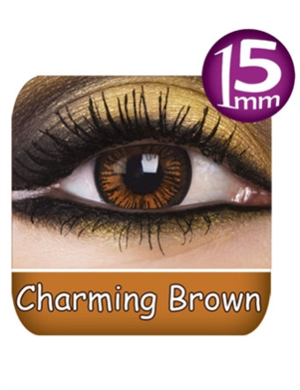 Fargede Linser Phantasee Big Eyes Brun