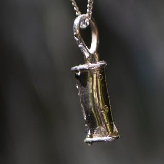 Andningssmycke i silver (Minska ångest, må bättre med förbättrad andning.)