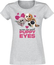 Pets - 2 - Puppy Eyes -T-skjorte - gråmelert
