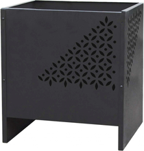 RedFire bålfad Mesa firkantet sort stål 85017