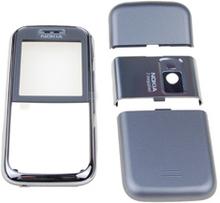 Nokia 6233 skal, silver, 4 delar, original