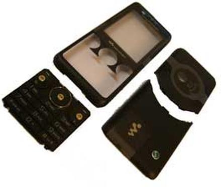 Sony Ericsson W660i skal, svart, original