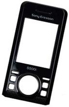 Sony Ericsson S500i front, svart, original