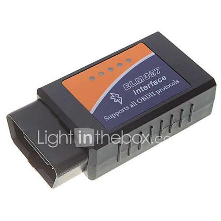 OBDII Bluetooth Car diagnostiset kaapeli - musta sininen oranssi (DC 12V)