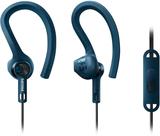 Philips sportheadset shq1405 gråblå