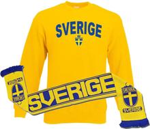 Sverige halsduk & sweatshirt paket
