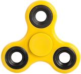 Fidget spinner med ståltyngder i gul färg