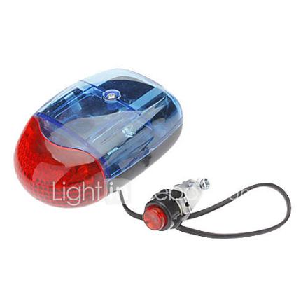 Polkupyörä 8-Sound Electric Horn 5-LED neutraali valkoinen Varoitus Light w / Bike Mount (2 x AA)
