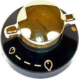 Belling Kaminer svart & guld Gas spis kontrollregl