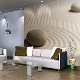 Fototapet - sand and zen - 200x154 cm