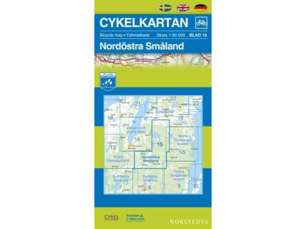 Norstedts Sykkelkart Ark 15 Nordøstre Småland