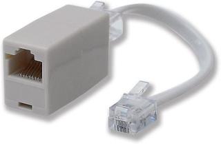 RJ11 Kontakten till RJ45 uttag Line adapter (modell nr BK4509PG)