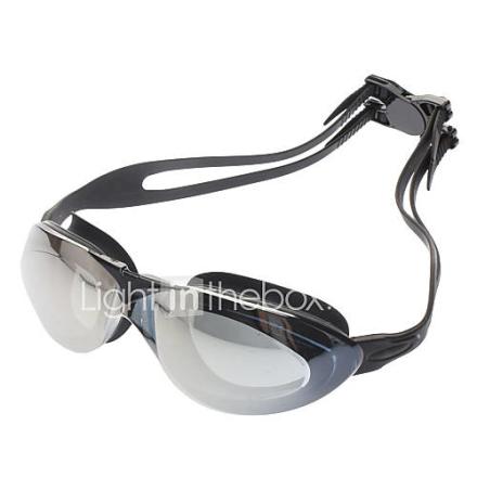 High Quality PC Lens silikoni hihna Uinti lasit suojalasit w / kantolaukku - musta