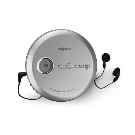 CDC 100 MP3 Discman CD-Spelare bärbar Antishock ESP Micro-USB silver