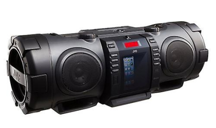 JVC transportabel CD Boomblaster med lyn Dock og Bluetooth - svart