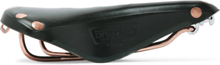 B17 Leather And Copper Bicycle Saddle - Black